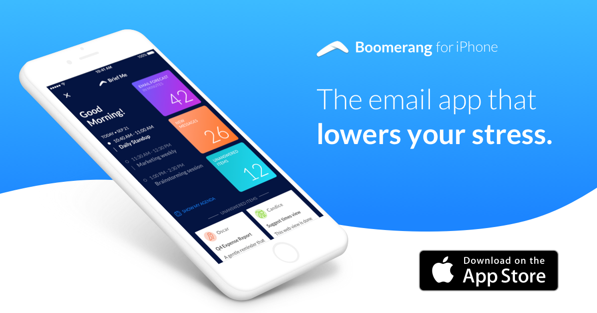 how long is snooze on iphone boomerang for iphone email app voice assistant from 7241