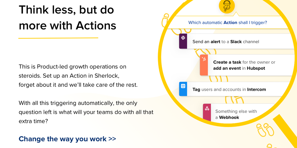 Actions by Sherlock - Product-led growth on steroids | Product Hunt