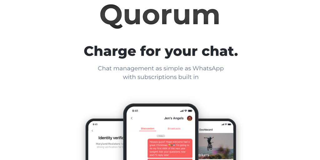 Quorum - Community chat with subscriptions built in | Product Hunt