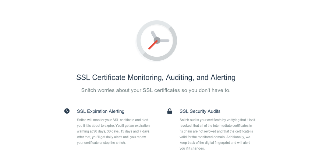 Snitch Ssl Certificate Monitoring And Alerting Product Hunt