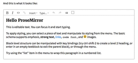 ProseMirror - A toolkit for building rich-text editors on