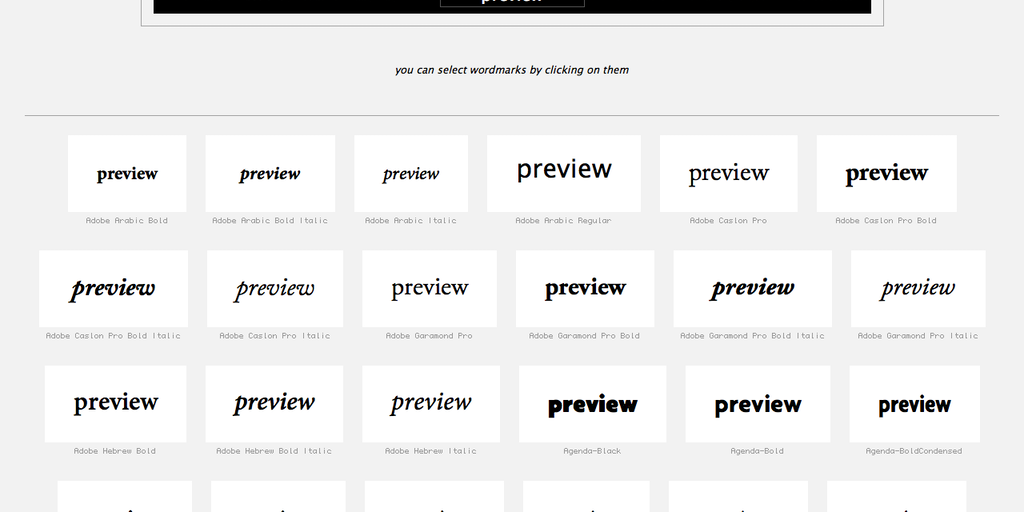Wordmark it - Helps you choose fonts   Product Hunt