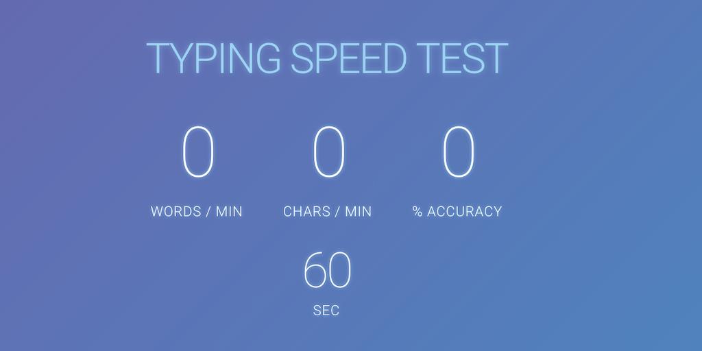 Speed Typing