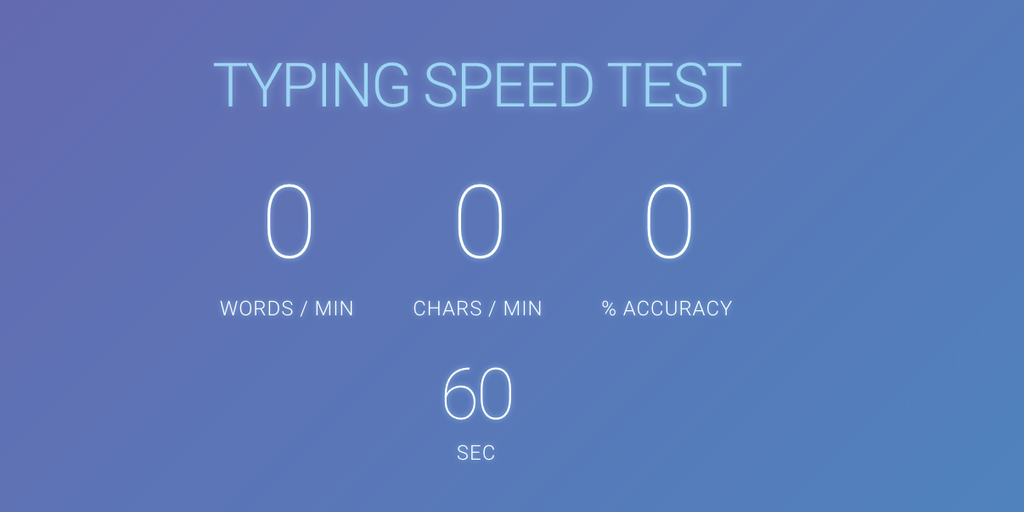 Typing Speed Test - A simple typing test to see how fast ...