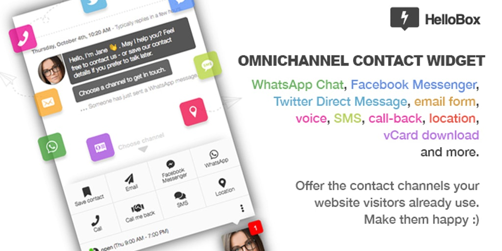 HelloBox 2.0 - All your socials in one omni-channel contact widget   Product Hunt