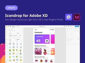 Icondrop for Adobe XD 2 0 - Insert icons, illustrations, and