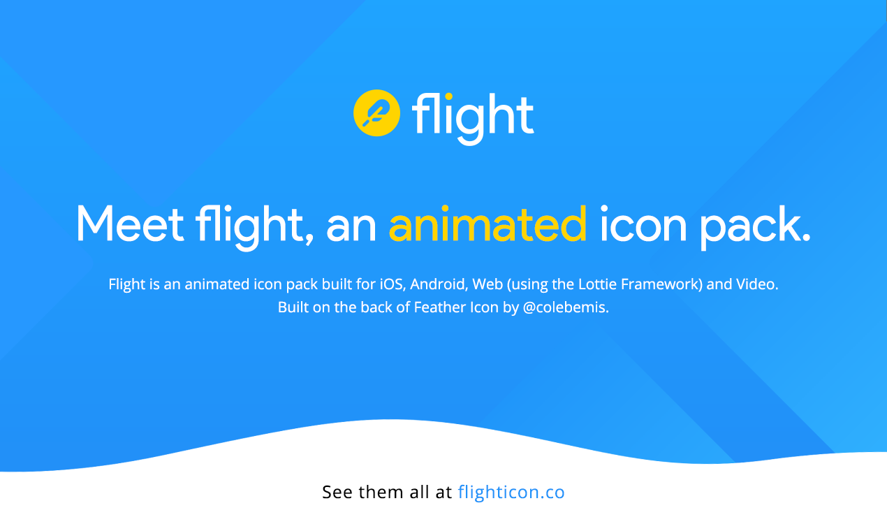 Flight Icons - An animated icon pack built for iOS, Android, Web & Video
