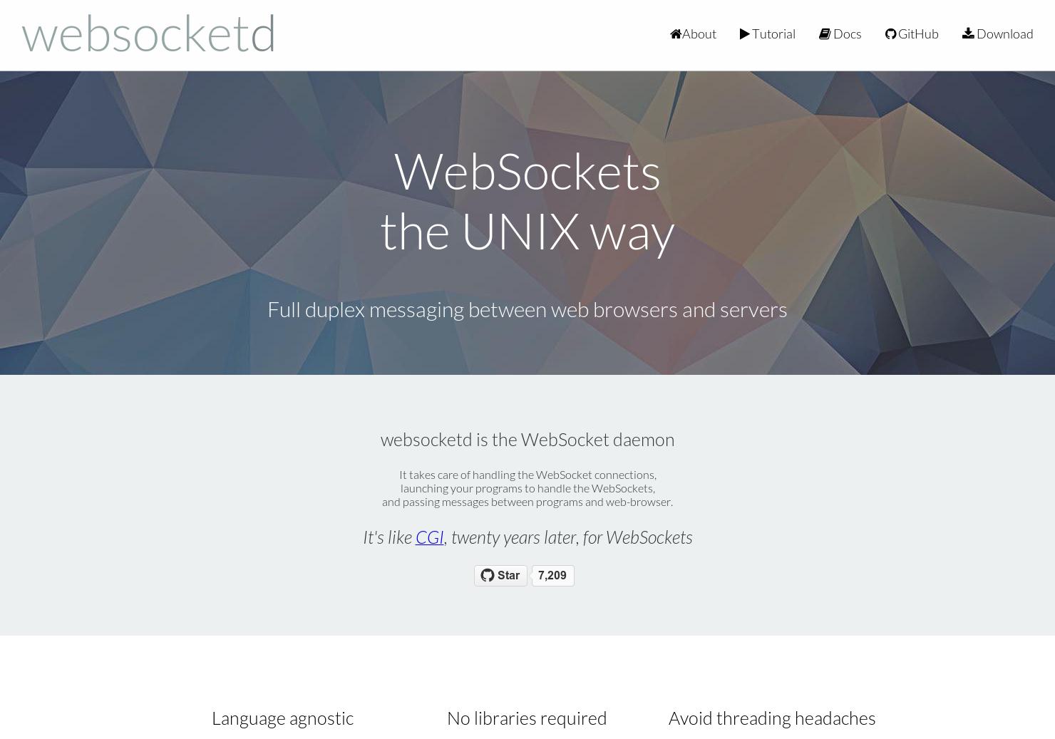 WebsocketD - WebSockets are easy now | Product Hunt
