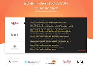 jsDelivr - Free multi-CDN for open source projects hosted on npm