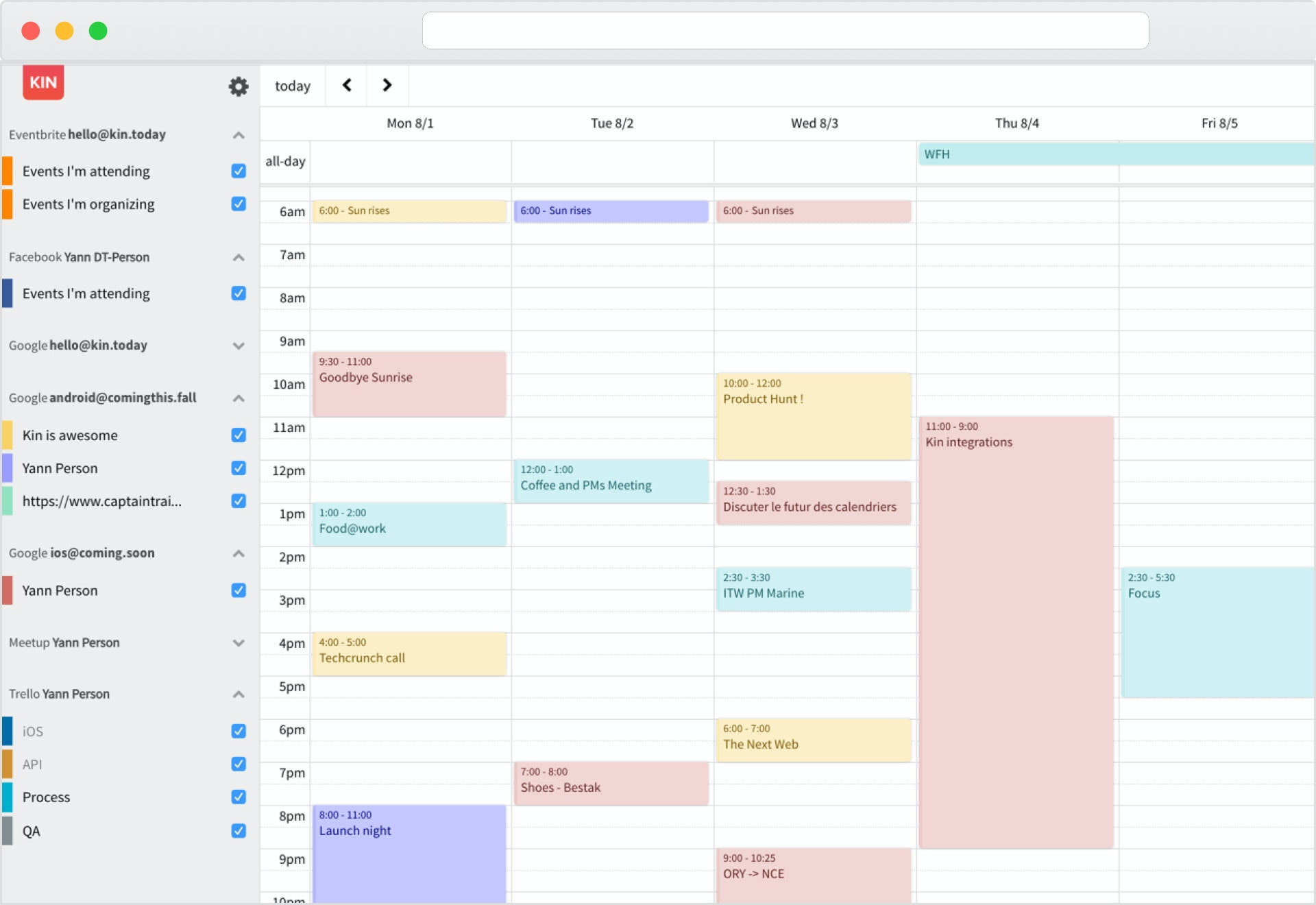 Kin Calendar.Kin Calendar The Simple And Connected Calendar Product Hunt