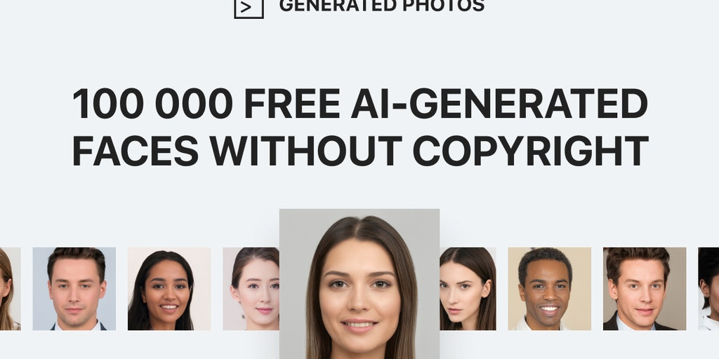 100,000 Faces - Free resource of 100k diverse faces generated by AI   Product Hunt