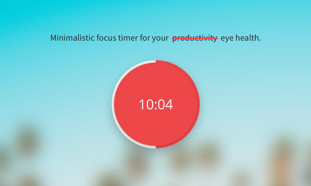 Pomy - Pomodoro for your eye health - Mac & Win