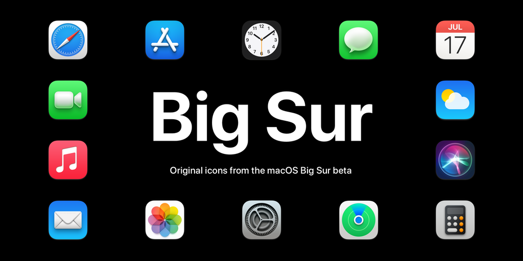 macOS Big Sur icons - Original icons in PNG ready for download | Product Hunt