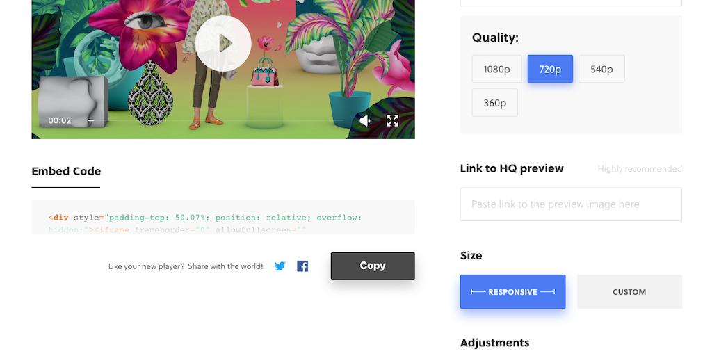 Vimeo Embed Code Generator