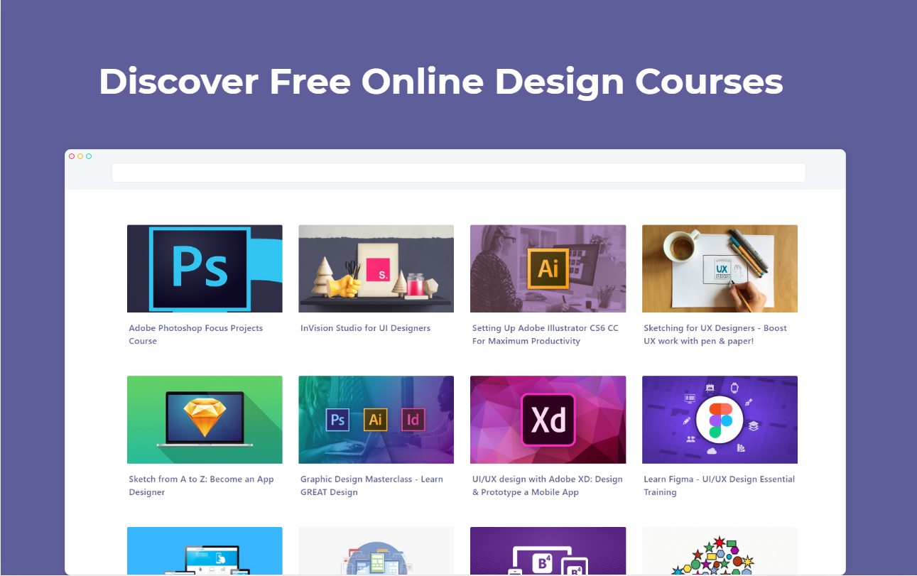 Design Courses Tab - Discover free design courses in your browser's new tab | Product Hunt