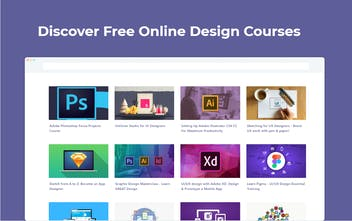 Design Courses Tab - Discover free design courses in your browser's