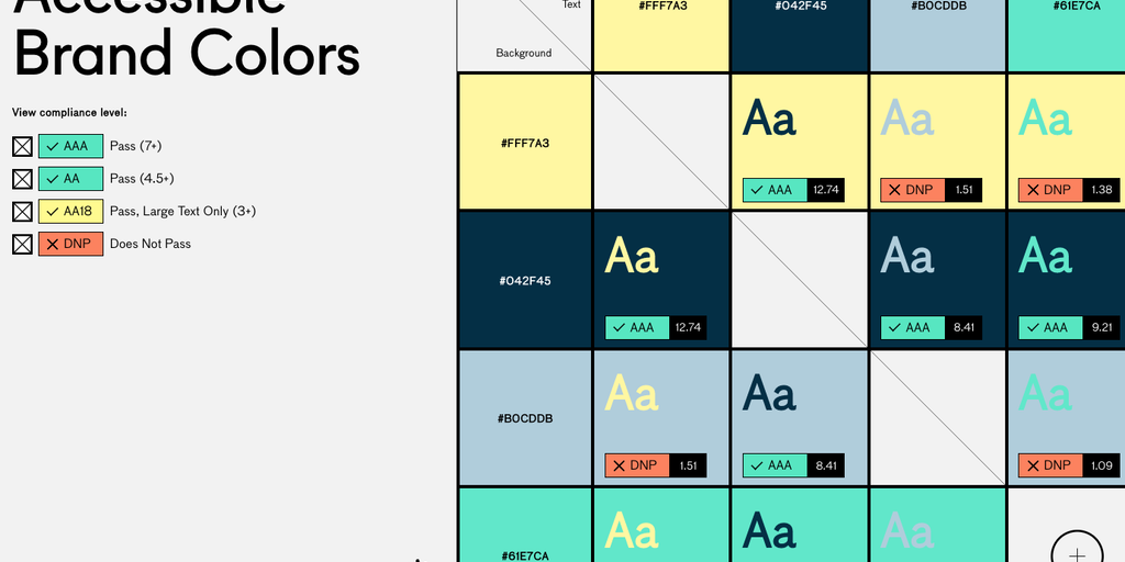 Accessible Brand Colors - A tool to make sure your brand ...