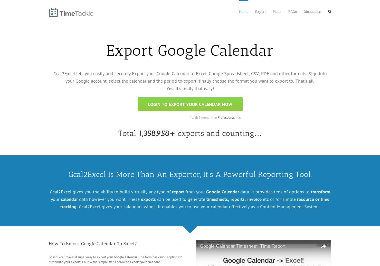 GCal2Excel - Export your Google Calendar Events to CSV or