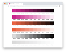 Tint Shade Generator Precise Tints And Shades From Any