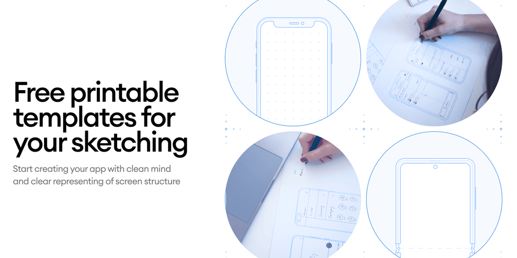 Printables - Free printable templates for your mobile sketching | Product Hunt