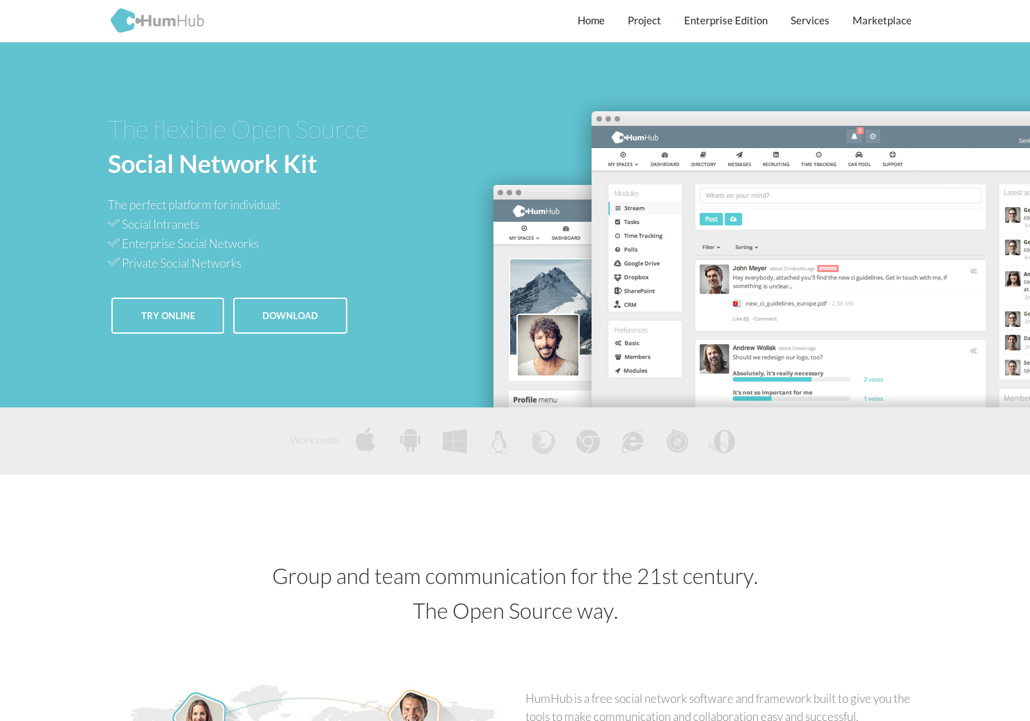 HumHub - Open source social network kit | Product Hunt