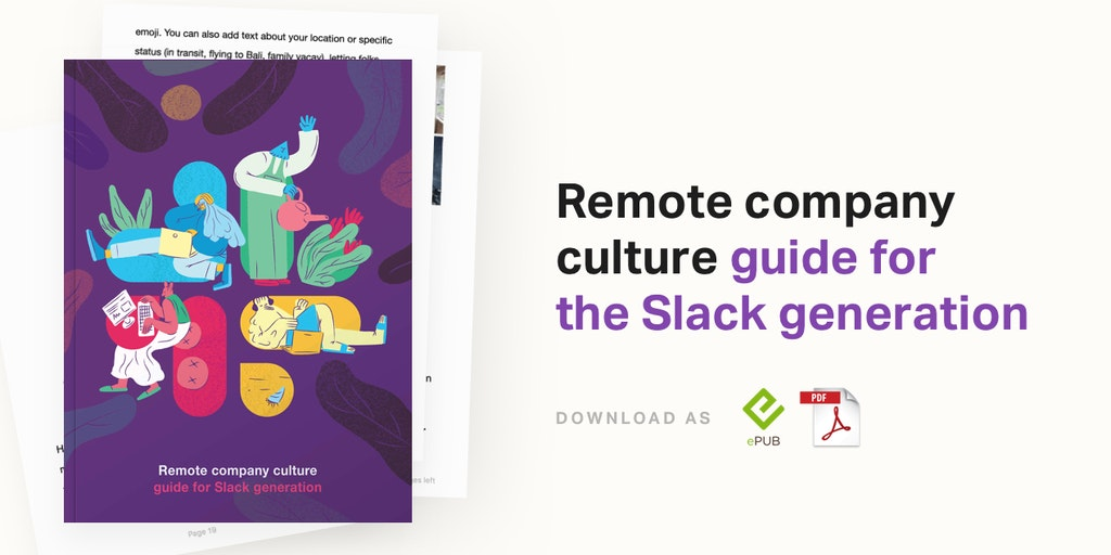 Remote Company Culture Book - Guide to remote culture best practices for Slack generation | Product Hunt