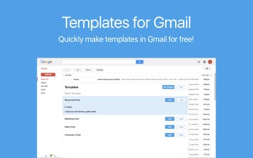 Templates for Gmail - Create & customize Gmail templates