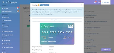 Paylasso - Configurable virtual cards to control your