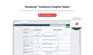 Facebook Audience Insights Helper - Chrome extension that highlights