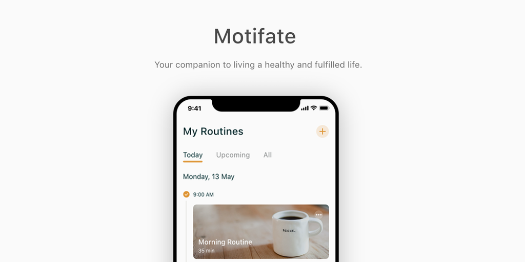 Motifate - Your companion to living a healthy and fulfilled life | Product Hunt