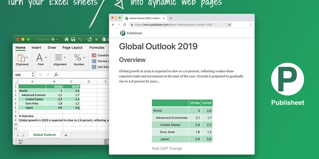 Publisheet - Publish your Excel sheets as dynamic web pages | Product Hunt