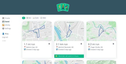 Routeshuffle - Create random exercise routes, made by a 15