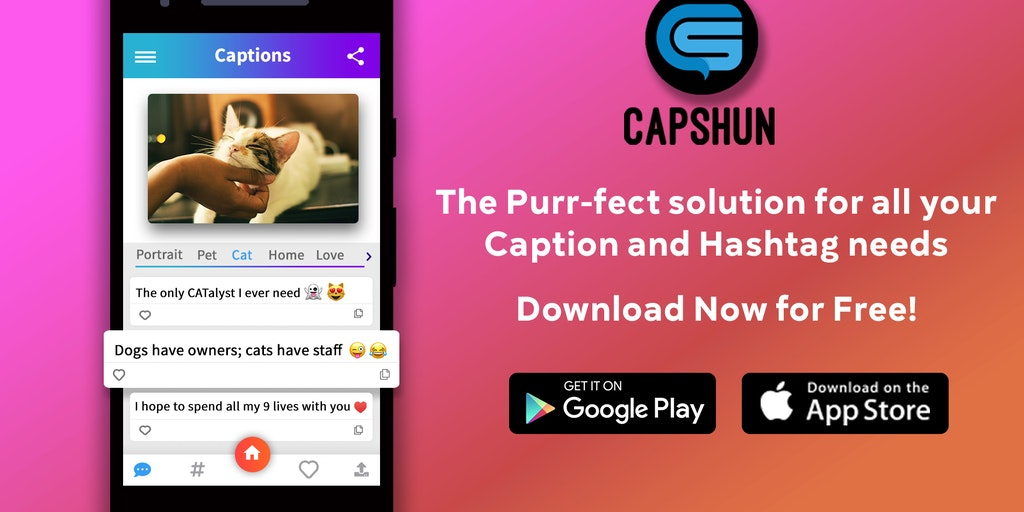 Capshun - AI that creates captions & hashtags for photos in seconds
