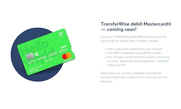 TransferWise Debit Card - A bright green card to save you