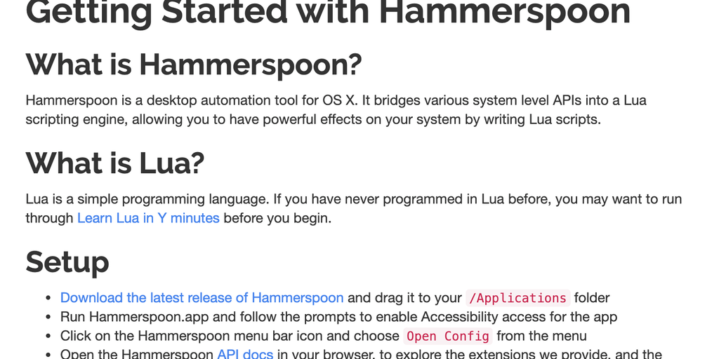 Hammerspoon - Powerful automation of Mac OS   Product Hunt
