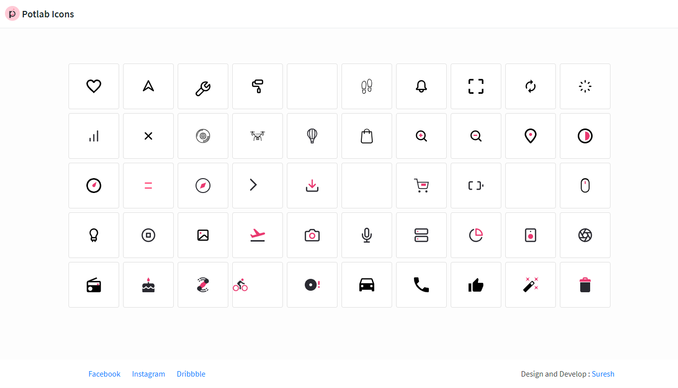 Potlab Icons - Animated SVG icons for web projects