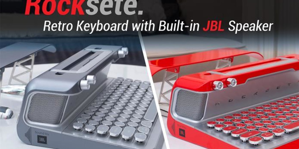 Rocksete - Retro keyboard with built-in JBL speakers | Product Hunt