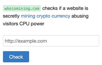 Who is mining? - A simple tool to see which sites are mining