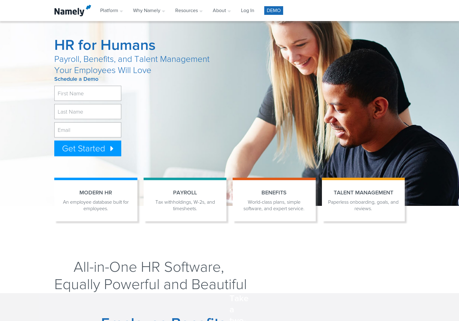 Namely - The HR platform for companies serious about growth