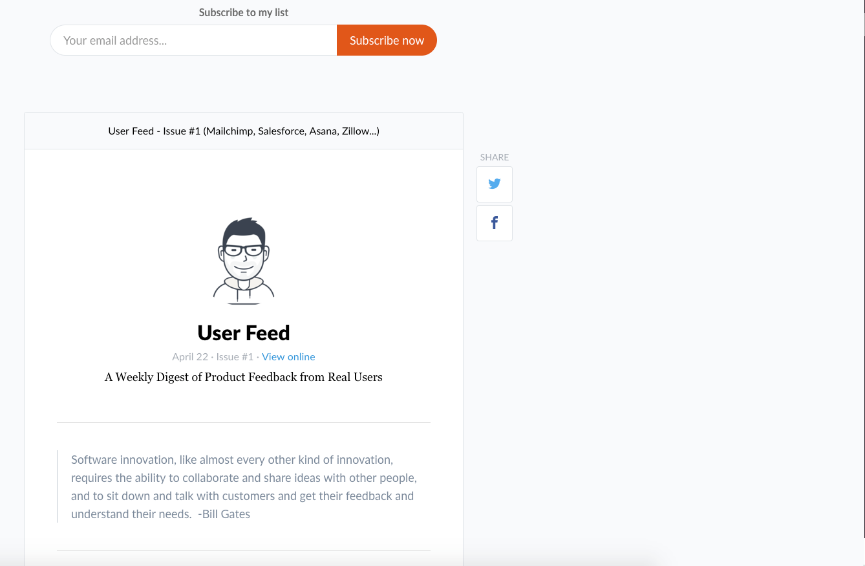 User Feed